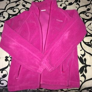 Women's Medium Pink Columbia Fleece Jacket